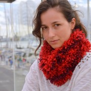 bright colors cowl with lots of volume