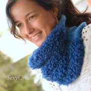 Tutorial. Knitted wool neck from two types of yarn
