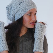hat and mittens set of French style