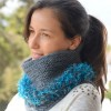 Tutorial. Cowl from 2 types of yarn. Model 2.