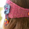 Hippie crochet headband. Pattern.