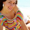 top de crochet muy divertido y bonito