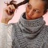 gray triangle crochet scarf cowl