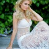 Paris Hilton crochet dress
