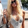 Paris Hilton crochet swimsuit