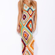 beautiful long crochet dress