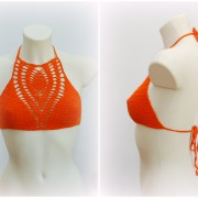 New SexyCrochet halter festival crochet top
